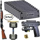 Magnetic Gun Mount Holster 53lb. - Gun Magnet Mount - Discreet Tactical Concealed Carry Handgun Holder for Car Truck Under Desk Bedside Wall w/Anti Scratch Rubber Coating (10)