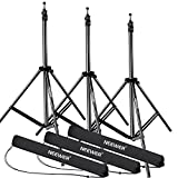 Neewer 28-83 inches/72-210 centimeters Adjustable Aluminum Alloy Light Stands with Durable Carrying Case for Video, Portrait Photography Lighting, Reflectors, Softboxes and Umbrellas (3 Packs)