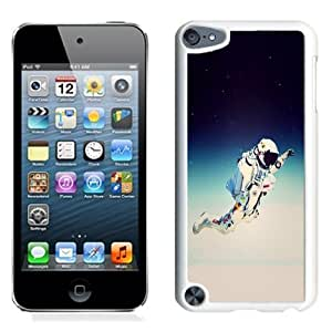 Lovely and Durable Cell Phone Case Design with Jump From Space Red Bull Felix Baumgartner Illustration iPod Touch 5 Wallpaper in White