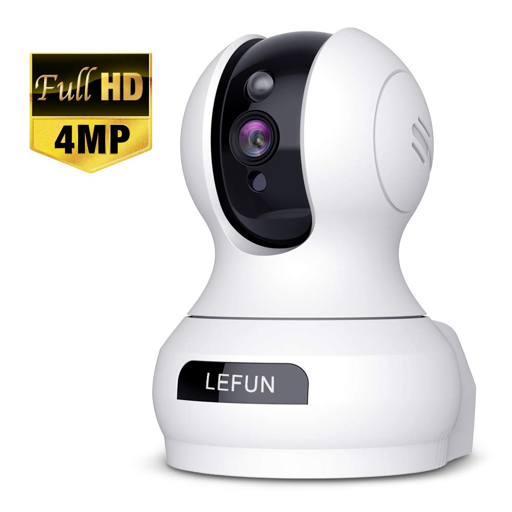 4MP Wireless Security Camera, Lefun WiFi Baby Monitor Surveillance IP Camera with Sound Detection Two Way Audio Cloud Service Night Vision Supports 2.4GHz Network for Home Pets Elders Babies by Lefun