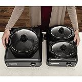 Kitchen & Housewares : Crock-Pot Hook Up 2 Unit, 2-1Qt and 1-2Qt Black