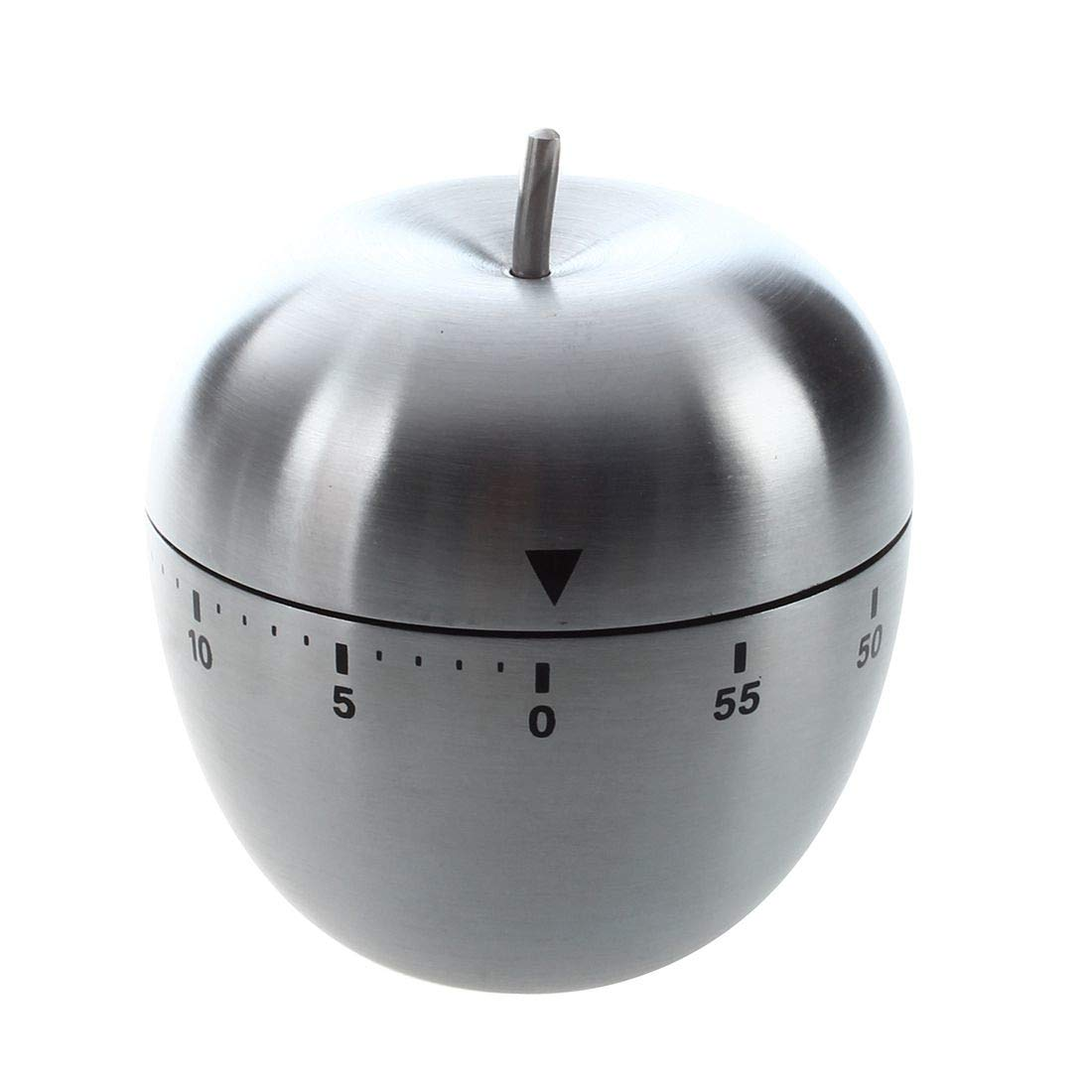 Kitchen Timers - Stainless Steel 60 Minute Countdown Cooking Mechanical Alarm Timer Clock Apple Shape - Countdown Clock Kitchen Kids Timer Alarm Kitchen Timers Timer Stainless Steel Mechanic