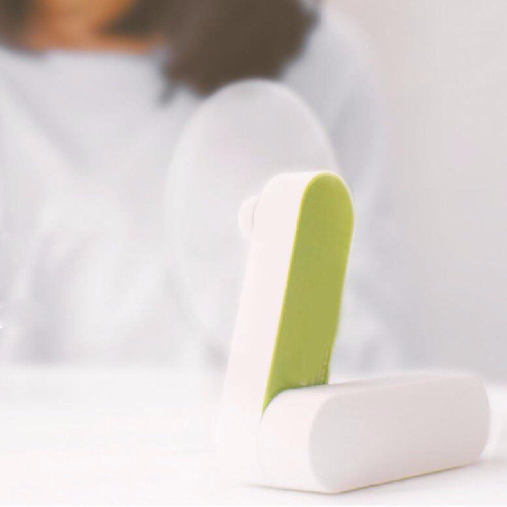 ZPSPZ-Fan Handheld Small Fan Folding Mini Portable Usb Rechargeable Electric Fan Student Dormitory Bed With Mute Office Desktop Fan,Orange