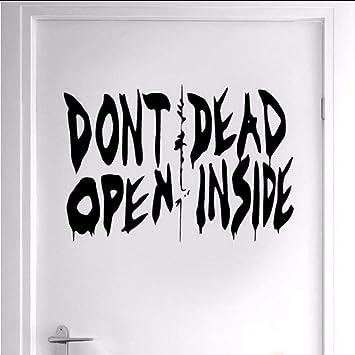 Kuletieas The Walking Dead Art Vinyle Home Decor Porte N