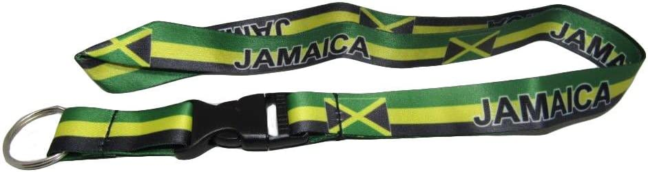 "32/"" Antigua /& Barbuda Country Flag Lanyard With Detachable Key Ring"