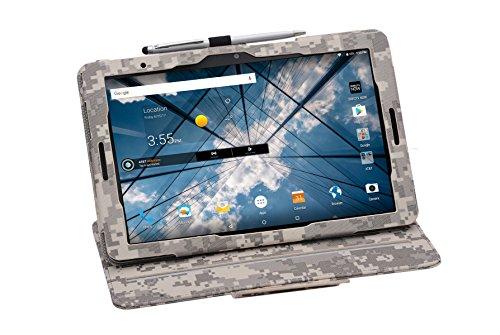 i-UniK AT&T Primetime Tablet Case Compatible AT&T Primetime 10 Folio Kickstand Tablet Support Sleep Awake Function Cover [Bonus Stylus] (ACU CAMO)