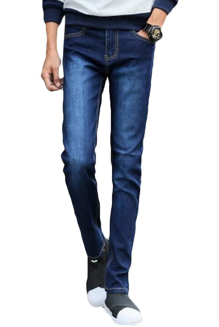 SELX Men Casual Vintage Jeans Comfort Slim Fit Stretch Jogger Denim Pants