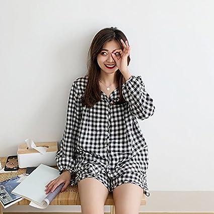 XXIN / Ropa De Casa De Dos Piezas Para Mujer / Camisa De Algodón / Pantalones