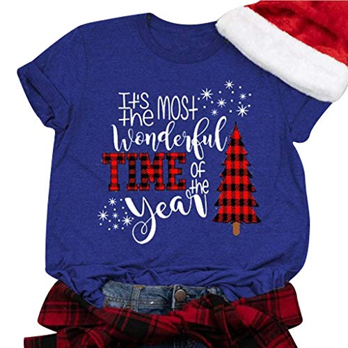 Meikosks Womens Santa Claws T-Shirt Short Sleeve Round Neck Tops Christmas Casual...