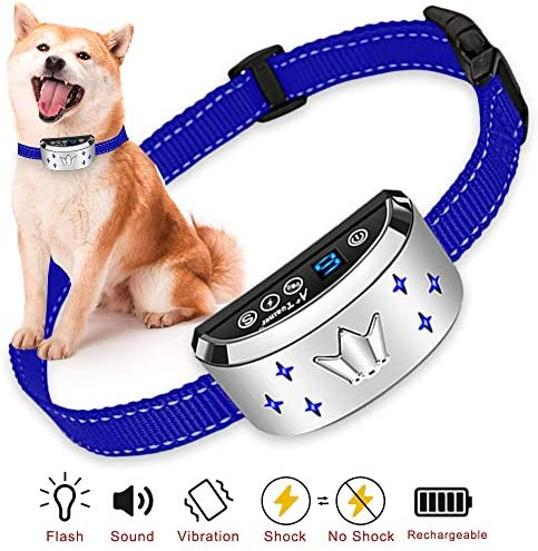 Rechargeable Electric Shock E-Collar 2 Dogs Training Remote Control Anti-Bark KY