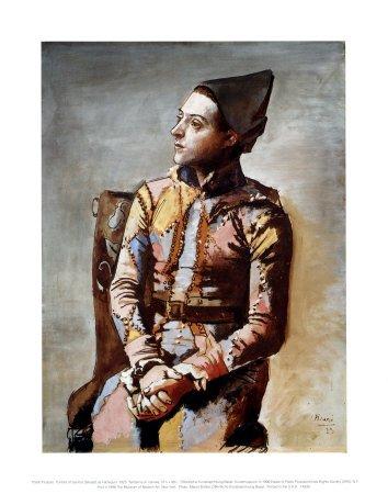 Il Seduti Arlecchino 1923 Art Poster Print By Pablo Picasso 11 X