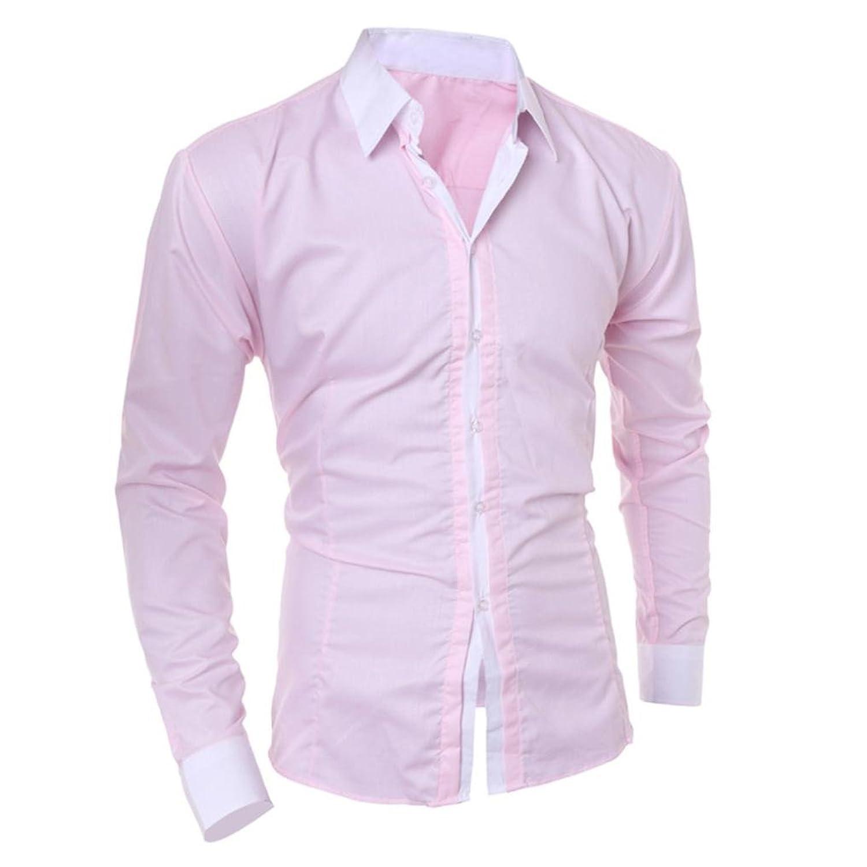 d0024d61d45e37 low-cost BCDshop Men s Fashion Casual Slim Shirt Button Down Cool Handsome Tops  Blouse