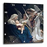 3dRose dpp_173840_3 Song of The Angels, Adolphe William Biographic Playing for Baby Jesus-Wall Clock, 15 by 15-Inch Review
