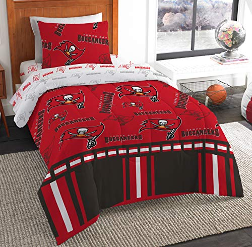 (The Northwest Company NFL Tampa Bay Buccaneers Twin Bed in a Bag Complete Bedding Set #707868295)