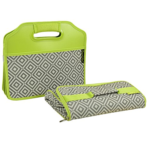 Picnic at Ascot 3 Section Folding Trunk Organizer- with Removable Cooler- Designed Quality Approved in the USA