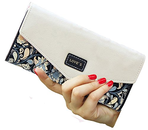 SeptCity Womens Leather Western Trifold