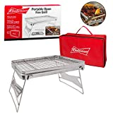 Camping Grill - Portable Compact Scout Outdoor Grill by Budweiser (16.5'' X 10.5'') - Weighs Just 2.5 Lbs and Includes Budweiser Carrying Bag
