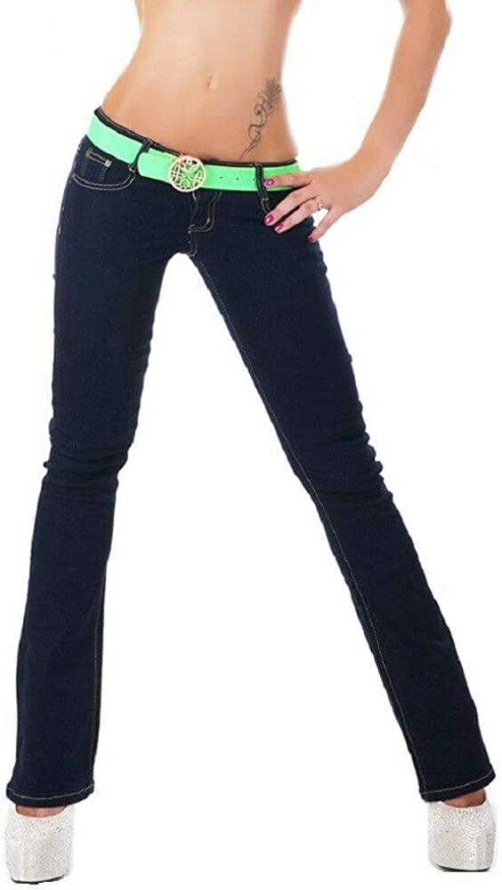 SIMPLY CHIC Womens Blue Boot Cut Jeans Stretch Classic Bootcut Denim Trousers