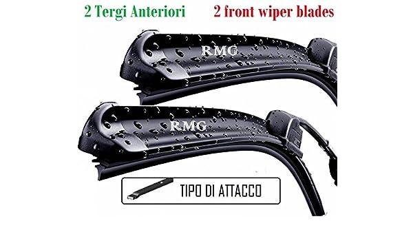 RMG - Juego de 2 escobillas limpiaparabrisas delanteras para automóviles. Medidas de las escobillas: 65 y 40 cm F: Amazon.es: Coche y moto