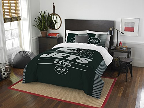 NFL New York Jets Draft Full/Queen Comforter and 2 Sham Set
