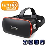 Image of Pansonite 3D VR Glasses Virtual Reality Headset for Games & 3D Movies, Upgraded & Lightweight with Adjustable Pupil and Object Distance for IOS and Android Smartphone