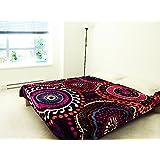 Artinen Chakra Bedding Sherpa Blanket Bedspread Full/Queen Throw Cover Warmer Fleece Purple