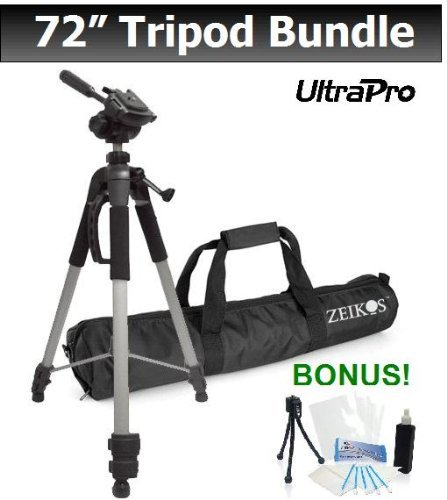 PRO 72-inch TRIPOD For Select Pentax Digital Cameras. UltraPro Bundle Includes: Mini Travel Tripod, LCD Screen Protector, Camera Cleaning Kit