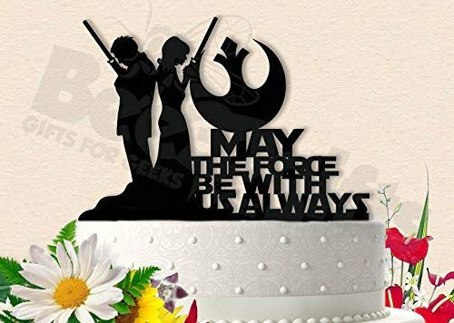 Jedi Couple Star Wars Wedding Cake Topper -
