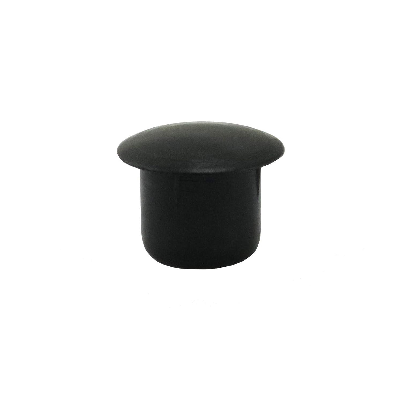 100 Tappi Copriforo 10mm IROX Nero Plastica Testa 14mm Tappo Copri foro