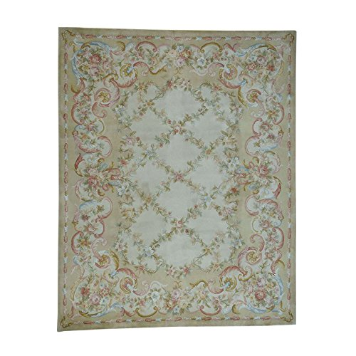Thick and Plush Oversize Savonnerie Floral Trellis Design Rug (12'x18')