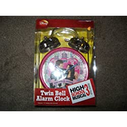 Disney Twin Bell Alarm Clock High School Musical 3