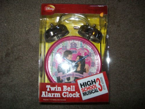Disney Twin Bell Alarm Clock High School Musical 3