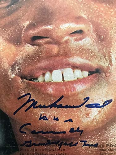 Framed Muhammad Ali Authentic Autograph with Certificate of Authenticity