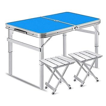 HSRG Mesa Plegable para Picnic con 2 sillas de Altura Mesa ...