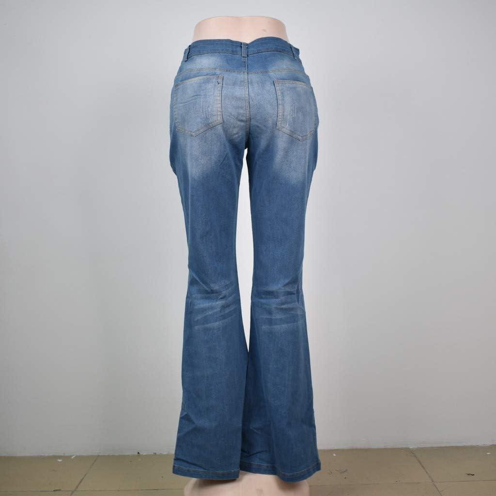 Mujer Rawdah Vaqueros Mujer Skinny Rotos Pitillos Vaqueros Mujer Tallas Grandes Cintura Alta Jeans De Mezclilla De Cintura Media Para Mujer Pantalones De Campana Con Botones Elasticos Jeans Ropa Vvgf Com Au
