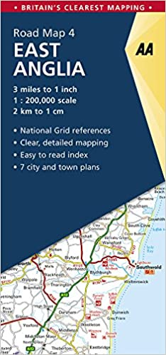 Map Of East Uk.Aa Road Map East Anglia Aa Road Map Series 04 Aa Road Map Britain