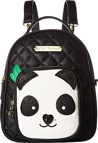Betsey Johnson Womens Convertible Backpack Black/White One Size