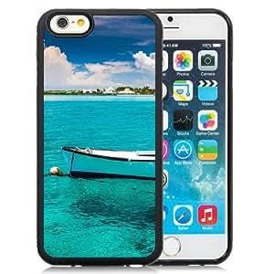 Pure Blue Lake Boat Durable High Quality iPhone 6 4.7 Inch TPU Case