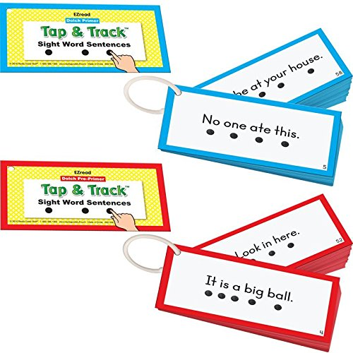 Tap & Track Dolch Sight Word Sentence Flash Cards