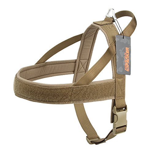 EXCELLENT ELITE SPANKER No-Pull Dog Harness Soft Padded Adjustable Nylon Pet Harness for Training Running(COB-L)