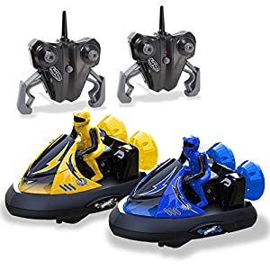 Rc Bumper Cars | Remote Control Cars - Set of 2 with Rechargeable Batteries and Wall Charger | 2.4Ghz Multiplayer Technology | Easy and Fun To Play - 51cimRJWC0L - Kidirace Rc Bumper Cars | Remote Control Cars – Set of 2 with Rechargeable Batteries and Wall Charger | 2.4Ghz Multiplayer Technology | Easy and Fun to Play