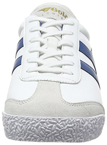 Gola Harrier Leather, Zapatillas Hombre Blanco (White/Ocean/Blue)