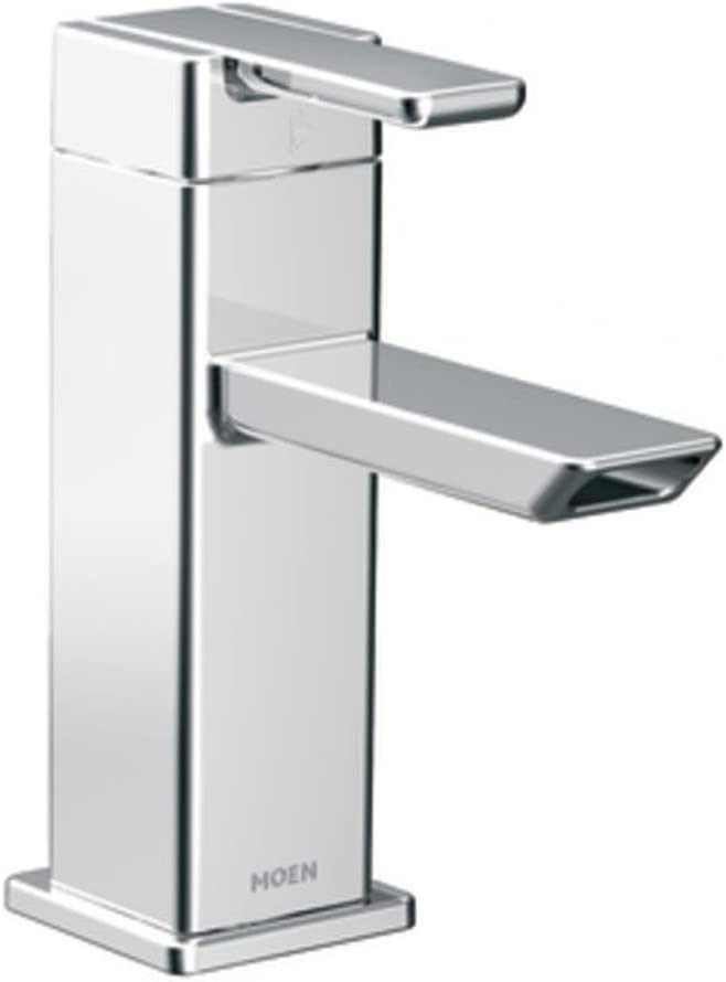 Moen S6700 90 Degree One-Handle Modern Bathroom Faucet with Drain Assembly,  Chrome