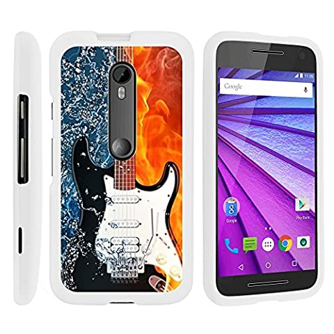Moto G 2015 Case, Slim Fit Snap On Cover with Unique, Customized Design for Motorola Moto G (2015) XT1540, XT1548 by MINITURTLE - Fire Water Electric (Water Cover Motorola)