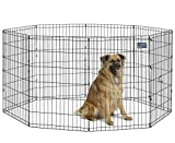 "Midwest Foldable Metal Exercise Pen/Pet Playpen, Black 24"" W x 36"" H"