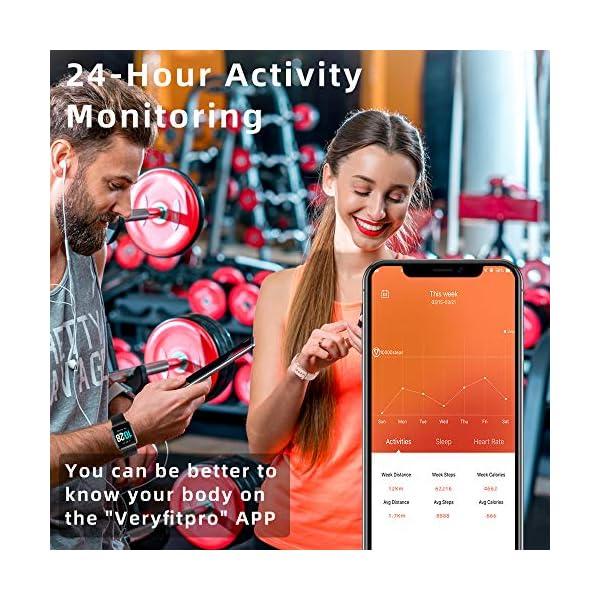 Montre Connectée, YONMIG Montre Intelligente Femmes Homme, Smartwatch Tactile Bracelet Connecté IP68 Etanche Sport…