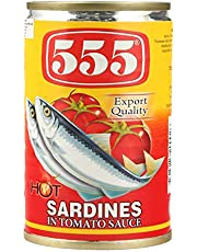 555 Sardines in Tomato Sauce with Chilli, 155 gm