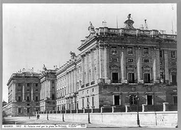 Foto: El Palacio Real, plaza de Oriente, Castillos, Palacios, paredes, Pilar, Madrid, España, 1890: Amazon.es: Hogar