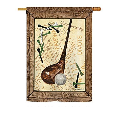 Breeze Decor H109059 Strike a Golf Ball Interests Sports Dec