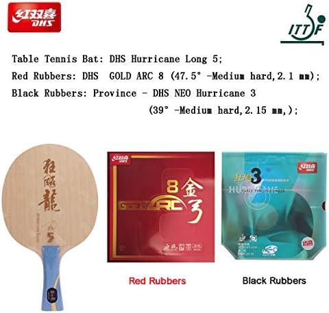 Ping Pong rubber 1 Black Original DHS  Hurricane 3  Table Tennis Rubber